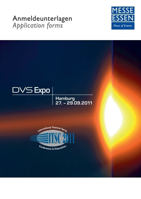 Anmeldeunterlagen Application forms - DVS Expo