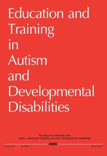 etadd_48(1) - Division on Autism and Developmental Disabilities