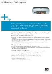 HP Photosmart 7260 fotoprinter - FLC Danmark ApS