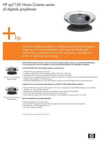 HP ep7100 Home Cinema serien af digitale projektorer