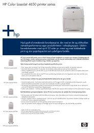 HP Color LaserJet 4650 printer series - FLC Danmark ApS