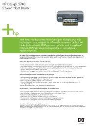 HP Deskjet 5740 Colour Inkjet Printer - FLC Danmark ApS