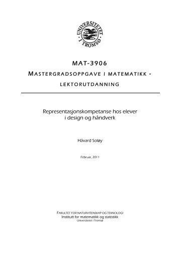 MAT-3906 - Munin - Universitetet i Tromsø