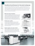 Product brochure for SP 8300DN - Savin Corporation - Page 2
