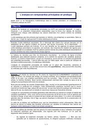 L'analyse en composantes principales en pratique - FOAD ...
