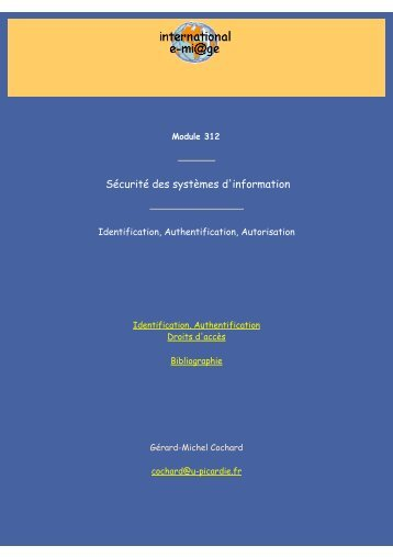 Identification, Authentification, Autorisation