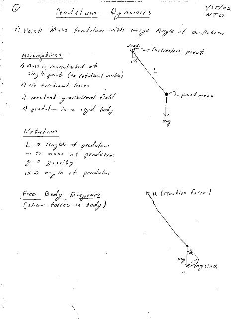 nonlinear pendulum dynamics - MAELabs UCSD
