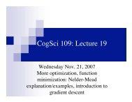 optimization, gradient descent, conjugate ... - MAELabs UCSD