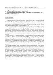 MOKSLINIS GYVENIMAS - Baltijos regiono istorijos ir archeologijos ...