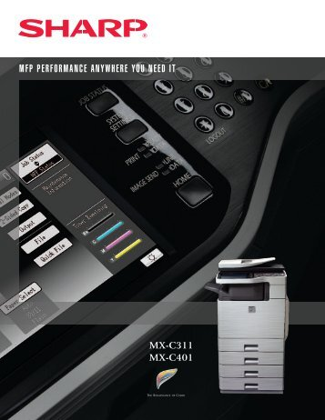 MX-C311 | MX-C401 Brochure - Sharp