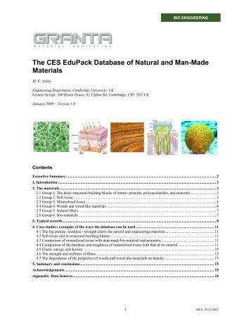 The CES EduPack Database of Natural and Man ... - MAELabs UCSD