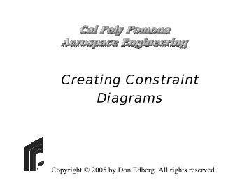 Constraints Diagram - MAELabs UCSD