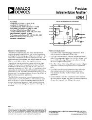 AD624 Precision Instrumentation Amplifier - Analog Devices