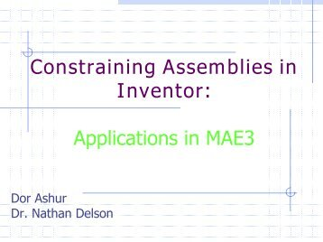 Constraining Lecture - MAELabs UCSD