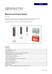 Materials and Product Design