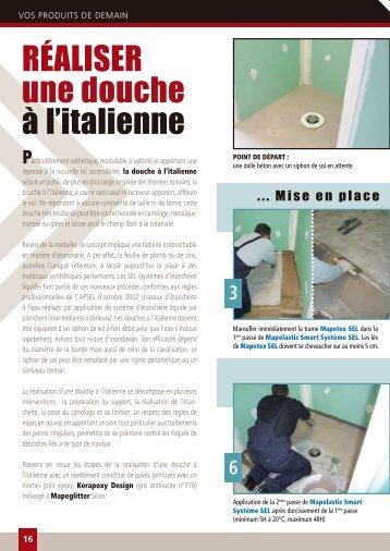 Sanitaire plomberie dou - Realiser une douche a l italienne ...