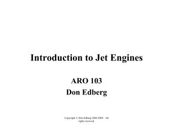 Intro to Jet Engines - MAELabs UCSD
