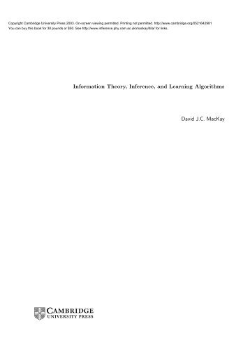 Information Theory, Inference, and Learning ... - MAELabs UCSD