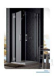 Douche d'angle deux fixes et deux portes
