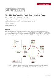 The CES EduPack Eco Audit Tool ? A White Paper - MAELabs UCSD