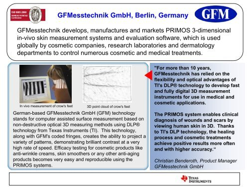 GFMesstechnik GmbH, Berlin, Germany - Texas Instruments