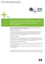 HP mp3222 digital projektor - FLC Danmark ApS