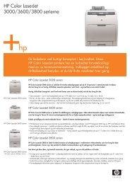 HP Color LaserJet 3000/3600/3800 serierne - FLC Danmark ApS