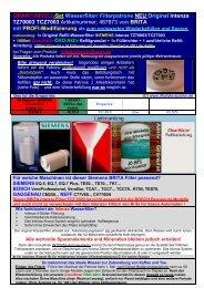 SMART-REFILL-Set Wasserfilter - Lifestyle und Sparen