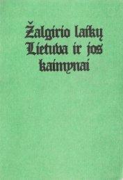 (Acta Historica Universitatis Klaipedensis, t. I).