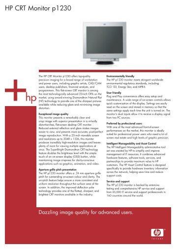 HP CRT Monitor p1230