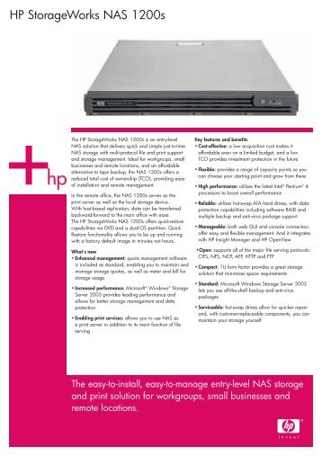 HP StorageWorks NAS 1200s