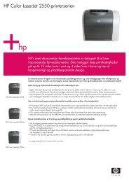 HP Color LaserJet 2550-printerserien - FLC Danmark ApS