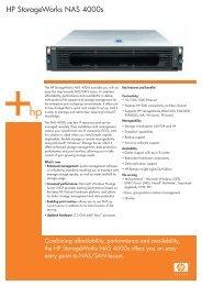 HP StorageWorks NAS 4000s