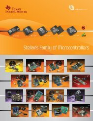 Stellaris Family of Microcontrollers - Texas Instruments