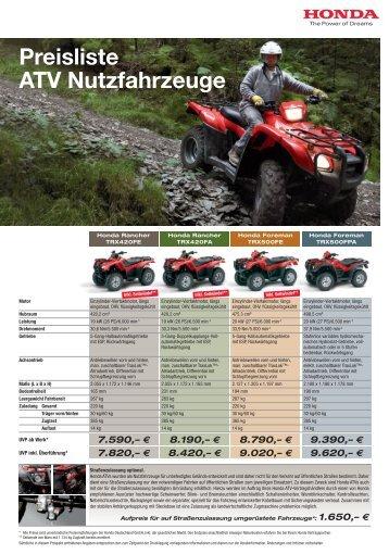ATV Nutzfahrzeuge Preisliste 2012 (PDF, 1 MB) - Honda