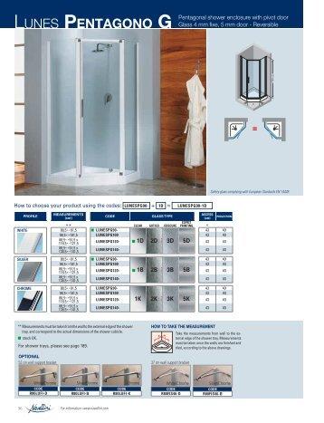 LUNES PENTAGONO G Pentagonal shower enclosure ... - Novellini