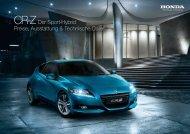 Preisliste CR-Z - Honda