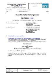 Gutachterliche Stellungnahme Anhängelasten 12.2012 (pdf ... - Honda