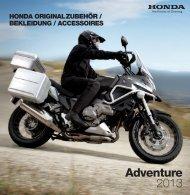 Honda Originalzubehör Adventure (PDF, 5 MB)