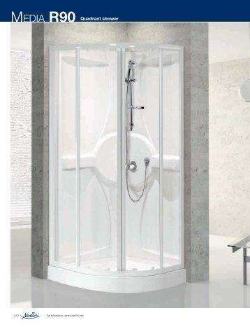 MEDIA R90 Quadrant shower - Novellini