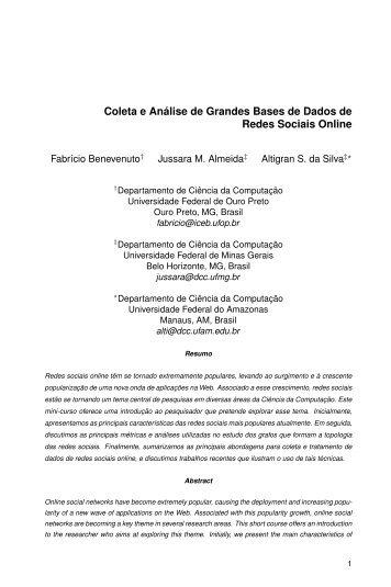 Coleta e Análise de Grandes Bases de Dados de Redes Sociais ...