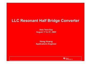LLC Resonant Half Bridge Converter