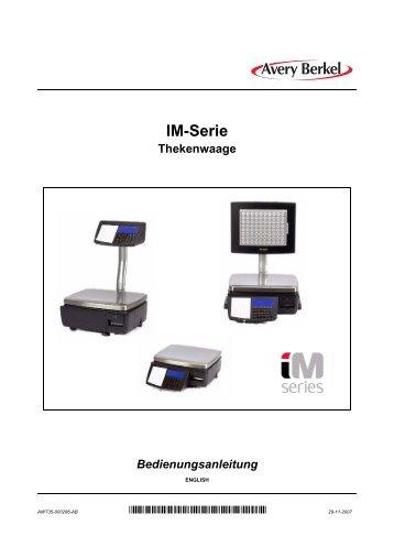 IM-Serie Thekenwaage Bedienungsanleitung