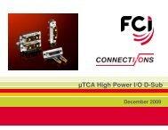 Micro TCA High Power D-SUB I/O - FCI