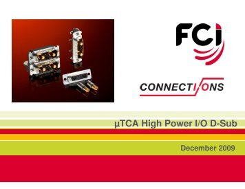 Micro TCA High Power D-SUB I/O - FCI
