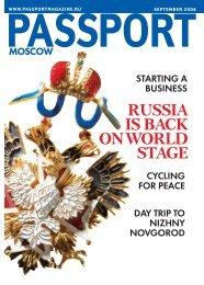 Cover - Passport magazine