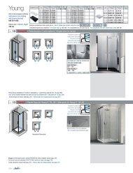 ref. 12 Young 2B - Porta doccia a 2 ante battenti / Hinged ... - Novellini