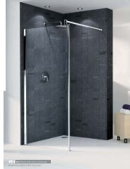 ref. 1 Go 1 Shower screen (with or without seat) - Novellini