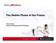 The Mobile Phone of the Future - Texas Instruments