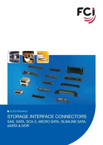 Storage Interface Connectors Brochure - FCI